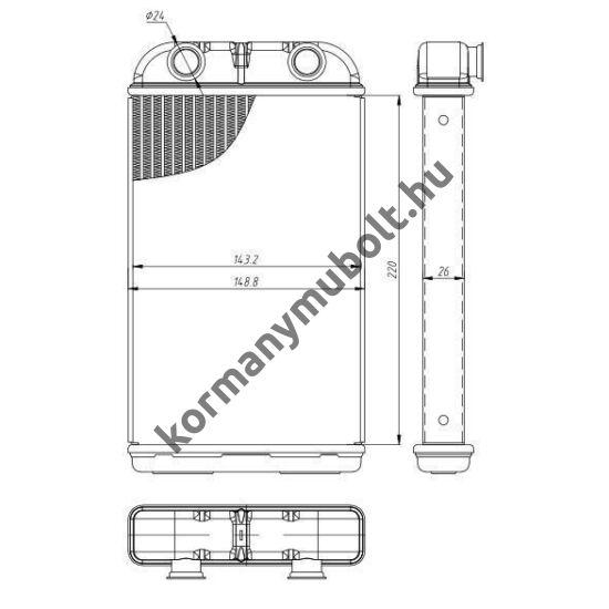 Toyota Hilux Fűtőradiátor 87107-35070